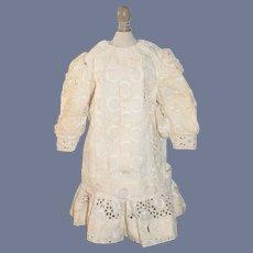 Wonderful Lace Doll Dress Drop Waist Lace w/ Fancy Cut out Design