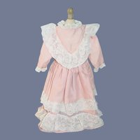Sweet Doll Dress w/ Lace Hand Made Vintage