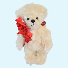 Vintage Teddy Bear Jointed ONE OF A KIND Mary Kay Lee Anastasia 1996 Curly Mohair