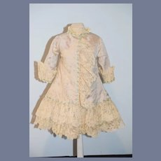 Wonderful Doll Dress Hand Made Bernadette Blood Antique Lace Gorgeous French Market