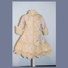 Wonderful Doll Dress Hand Made Bernadette Blood Antique Lace Gorgeous French Market