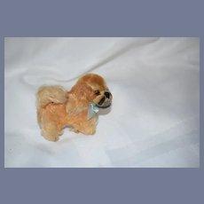 Wonderful Old Stuffed Dog Miniature Pekingese Jointed Head Doll Companion