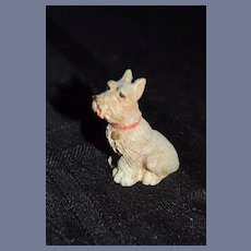 Vintage Artist Dog Signed Dated Miniature Scottie Scottish Terrier