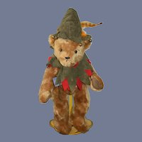 Wonderful Teddy Bear Hermann Teddy Original Jocye Ann Haughey Artist Limited Edition Robin Hood Jester