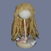 Gorgeous Doll Mohair Wig Ringlets and Fancy Braided Bun