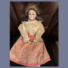 "Antique Bisque Gibson Girl Doll Large 20"" Dressed 172 Gorgeous Kestner Doll"