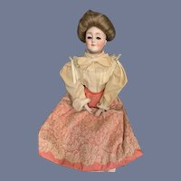 "Antique Bisque Gibson Girl Doll Large 20"" Dressed 172 Gorgeous Kestner Doll"