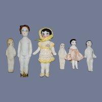 Antique Doll Collection Lot Frozen Charlotte Dolls Wonderful Miniature Dollhouse