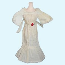 Sweet Old Cotton Doll Dress Butterfly Sleeves Petite Doll