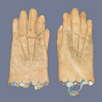 Sweet Old Doll Leather Gloves