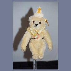 Vintage Steiff Teddy Bear Mohair Teddy Clown W/ Chest Tag and Button Tag EAN 029400