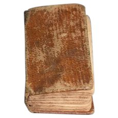 """Antique Miniature Book History of The Bible 1825 S. Shaw Charming Doll Sized 2"""""""