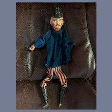 Old Punch and Judy Character Doll Hand Puppet Policeman