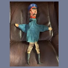 Old Punch and Judy Policeman Character Doll Hand Puppet