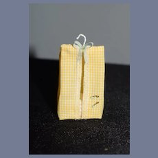 Sweet Vintage Artist Doll Miniature Diaper Bag W/ Tiny Safety Pins Janet Bakos Keto Dollhouse
