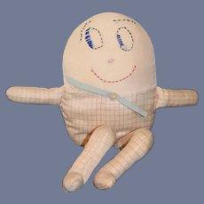 Old Humpty Dumpty Cloth Doll Petite Size