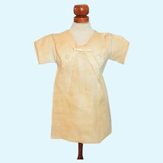 Antique Doll Dress Chemise W/ Bebe Pin Sweet Factory Made