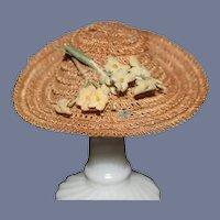 Wonderful Straw Doll Bonnet Hat Petite Doll