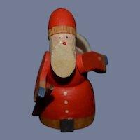 Old Wood Miniature Santa Claus Doll Carved German