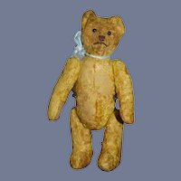 Old Teddy Bear Jointed Petite Jointed Hump Back Doll Friend