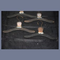 Wonderful Doll Hangers Hand Painted Topsy Turvy Black Doll White Doll Santa Claus Huge Set