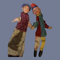 Old Doll Punch and Judy Puppets Wonderful Characters