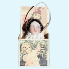 Wonderful Antique China Head Miniature Jack in The Box Artist Made German