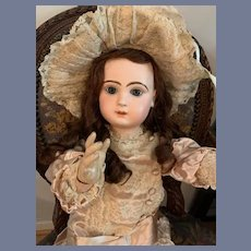 """Antique Doll Gorgeous French Bisque BeBe TeTe Jumeau Closed Mouth Wonderful Clothes Gorgeous 27"""""""