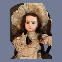 Antique Doll Gorgeous French Bisque BeBe TeTe Jumeau Closed Mouth Wonderful Clothes Gorgeous 27""