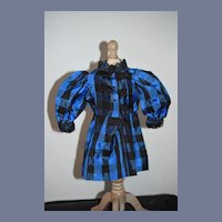Sweet Plaid Taffeta Drop waist Doll Dress