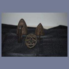 Antique Doll Miniature Iron's Cast Iron Doll Size Sad Iron
