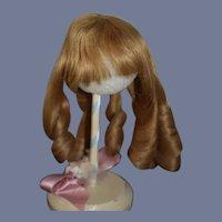 Wonderful Human Hair Doll Wig Bangs and Curls