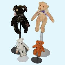 Wonderful Miniature Teddy Bear Jointed Artist Bears Dollhouse Size