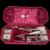 Wonderful Old Miniature Sewing Kit In Original Velvet Hinged Box Accessories