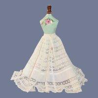 Antique Doll Lace Fancy Long Slip Undergarment Skirt Fashion Doll