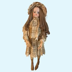 Antique French Doll Bisque Head FG Mannequinn HUGE Wood Articulated Hands
