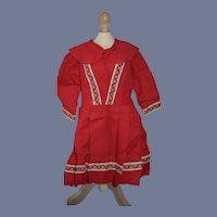 Sweet Doll Dress W/ Pleats and fancy Trim Peter Pan Collar