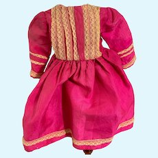 Old Doll Silk Lace Dress Petite Doll Charming