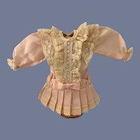 Sweet Doll Dress Petite Doll Mignonette Drop Waist Lace Pleats Bows French Market