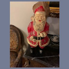 Vintage Large Plastic Santa Claus Light Lamp Statue