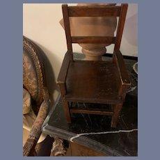 Old Wood Doll Chair Folk Art Sweet Size