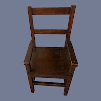 Old Wood Doll Chair Folk Art Sweet Size