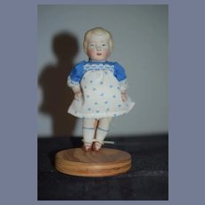 Antique All Bisque Character Miniature Doll Jointed Dollhouse