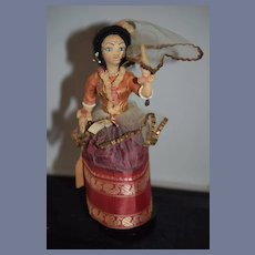 Old Cloth Doll  in Original Costume