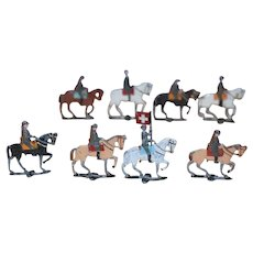 Old HUGE Lot of Lead Soldiers Some on Horses Miniature Toy