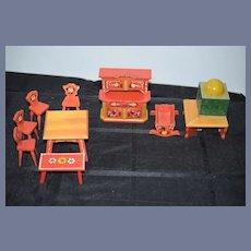 Huge Vintage Lot of Dora Kuhn Dollhouse Miniature Furniture German Wood Painted