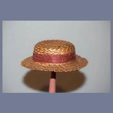 Wonderful Old Straw Doll Bonnet Hat Sweet