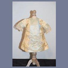 Antique Doll Dress Fancy Lace Silk