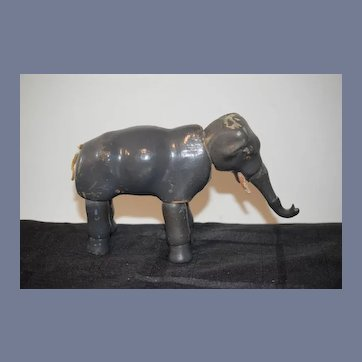 Antique Schoenhut Wood Carved Elephant Doll Circus Jointed