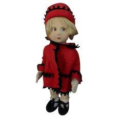 Old Doll Cloth Doll Felt Lenci? Sweet Original Clothing